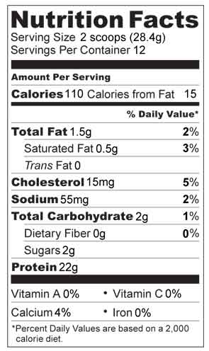 organic whey protein nutrition facts